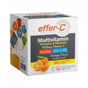 Bigjoy Effer-C Multivitamin Portakal Aromalı 20 Şase