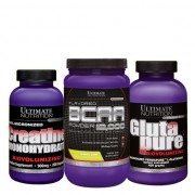 Ultimate Nutrition Bcaa Powder 457 Gr + Ultimate Glutapure Powder 400 Gr +Ccreatine 300 Gr